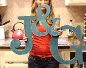 worn wash for hand painted wooden letters