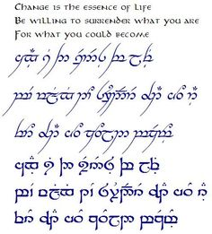 READ ONLY-Official TENGWAR Transcriptions(and TATTOOS)-III - The Hobbit, The Lord of the Rings, and Tolkien - The One Ring