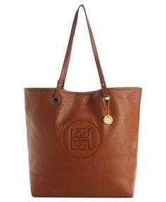 Tommy Hilfiger Handbag, Pebble Leather Easy Tote - All Handbags - Handbags   amp  Accessories 68b5b8df9d