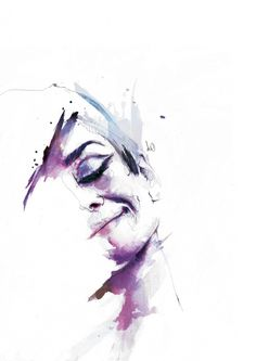 Beautiful ink and watercolour portraits by artist Florian Nicole.