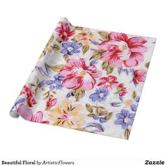 Shop Beautiful Floral Wrapping Paper created by ArtisticFlowers. Wedding Color Schemes, Wedding Colors, Flower Patterns, Flower Designs, Different Flowers, Invitation Cards, Art For Kids, Wrapping, Create Your Own