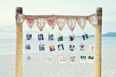 boda en la playa y fotos...idílico