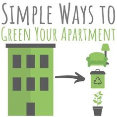Greening an apartment isn't all that different from greening a house. Check out these eco-friendly apartment ideas that are simple, affordable - and fun! Green Apartment, Apartment Ideas, Sustainable Design, Sustainable Living, Light Blocking Curtains, Self Watering Planter, Eco Friendly House, Simple, Check