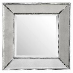This mirror is edgy with its unique mirrored frame that reflects light in a variety of directions, gracing your wall with a playful aesthetic.