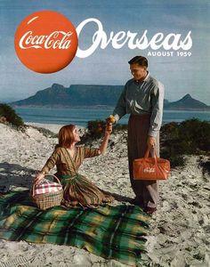 Coca Cola, 1959 Ashli & Eric at the Beach! Vintage Coca Cola, Coca Cola Ad, Always Coca Cola, Vintage Ads, Vintage Posters, Coke Ad, Vintage Food, Fashion Art, Pop Art