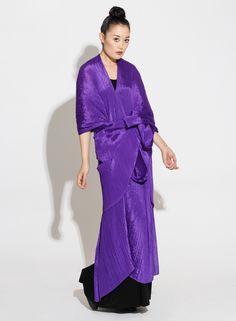 Pleats Please Issey Miyake   Madame T in Purple