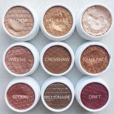 @natashakendallx's Colourpop's Super Shock Eyeshadows! SO GORGEOUS! Neutral, brown, mattes and shimmers with a pop of colour. #colourpopme #colourpop #colourpopeyeshadow