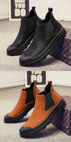 US $27.6 <Click to buy> Cowboy Boot Autumn Men's Chelsea Boot