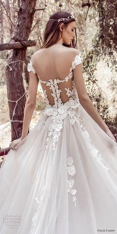 galia lahav gala 4 2018 bridal cap sleeves sweetheart neckline heavily  embellished bodice tulle skirt romantic · ManicheAbiti Da Sposa ... e265dfabd492