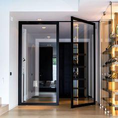 "Dubbele glazen deur met ""steel look"" frame"