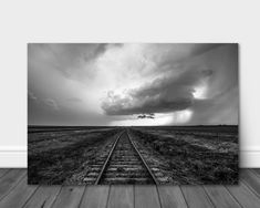 Storm Photography, Mountain Photography, White Photography, Country Wall Art, Storm Clouds, Print Pictures, Metal Wall Art, Railroad Tracks, Aluminum Metal