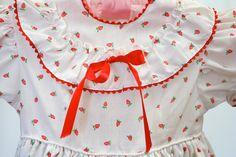 70's+Vintage+Girls+Summer+Strawberry+Dress+by+pinebrookvintage,+$19.00