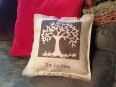 Burlap Pillow by CreativePlaces on Etsy, $22.00