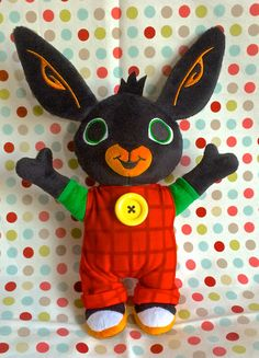 Handmade Bing Soft Toy Rabbit Bunny Plush Toy by RubyRedEtsy