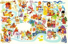 It's A Small World ride map.  You would think we would have all learned to get along, just from this ride....at least a little!