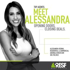 Meet Top Agent Alessandra Bernal, Opening Doors and Closing Deals! #topagent #realestate #resf