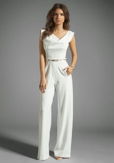 84e62faeea75 BLACK HALO Jackie Jumpsuit in Winter White at Revolve Clothing - rehearsal  dinner outfit!