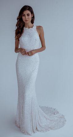 Featured Wedding Dress: Karen Willis Holmes; www.karenwillisholmes.com; Wedding dress idea.