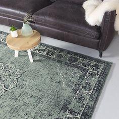 bol.com   Vintage vloerkleed - Wonder Groen/Zwart 185x275cm Chill Room, Sweet Home, New Homes, Interior Design, Green, Living Room, Rotterdam, Mansion, Carpets