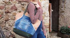www.maggiociondolo.eu Espadrilles, Jeans, Totes, Fashion, Throw Pillows, Self, Bedspreads, Repurpose, Espadrilles Outfit