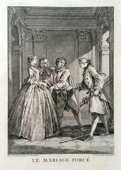 Le mariage forcé - Molière - gravé par Laurent CARS d'après François BOUCHER - MAS Estampes Anciennes - Antique Prints since 1898