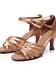 Dansesko(Sort+Brun+Sølv+Guld+Leopard+Øvrigt)+-Kan+tilpasses-Personligt+tilpassede+hæle-Damer-Latin+Salsa+Ballet+–+DKK+kr.+1.332