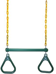 Eastern Jungle Gym Ring/Trapeze Bar Combo with Coated Chains, Green/Yellow $38.99 #bestseller