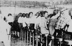 """On July 19, 1958 students at Wichita East High School, led by Ronald Walters and Carol Parks, began sit-ins at Dockum Drug Store, part of the Rexall chain. The lunch counter only served carry-out meals to African Americans. The owner yielded on August 11, saying """"Serve them — I'm losing too much money."""" Other downtown businesses and Rexall lunch counters across Kansas soon followed. #TodayInBlackHistory"""