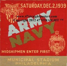 1939 Army Football Ticket Coasters.™ Last minute gift ideas. Last minute Father's Day Gifts, Best last minute gift ideas. Ceramic drink coasters made from over 2,000 historic college football tickets and other vintage sports art. #lastminutegifts $29.99 Printed in the U.S.A and shipped within 24 hours. #collegefootball #gifts #footballtickets