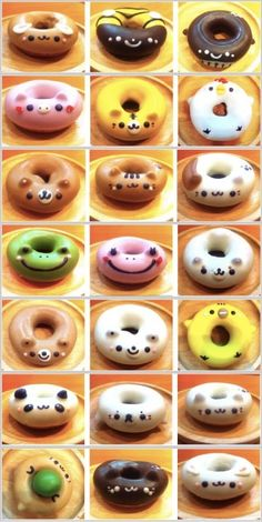 Donuts are the new cupcakes. Cute Donuts, Mini Donuts, Doughnut, Delicious Donuts, Yummy Food, Cute Desserts, Donut Shop, Cute Cakes, Cute Food