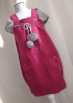 Mädchen Kinder Strickklied Tunika Longpullover Pullunder Gr. 134 (#97) in Kleidung & Accessoires, Kindermode, Schuhe & Access., Mode für Mädchen | eBay