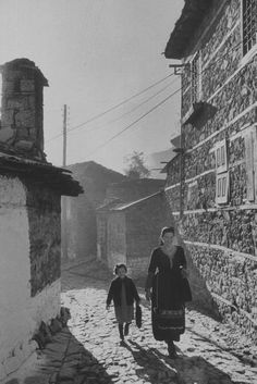 Photograph by James Burke. Metsovon, Greece, November 1959.