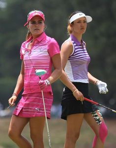 Lexi Thompson and Michelle Wie, paired together in final twosome, 3rd round of the U.S. Open at Pinehurst No.2, June 22, 2014