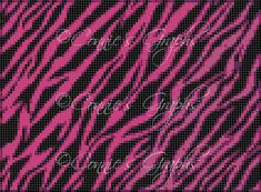 IMAGINE THIS AS A BLANKET!!! Pink & Purple Tiger Fur Graph/Chart, from my animal print series, has arrived!!!! Now you can purchase this beautiful Full Color Graph/Chart! Crochet one for that special person in your life today!  *This graph is watermarked. The Chart itself is not watermarked and...