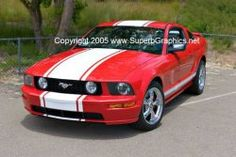Awesome red and white mustang!