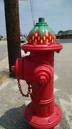 Fire hydrants are hand painted by the major of Chadbourn, NC.