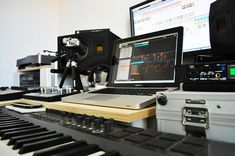 home recording studio with macbook pro