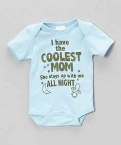 Blue 'Coolest Mom' Bodysuit I should have this for Carter...