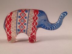 Abraham Palatnik acrylic elephant figurine made by CattleDogModern