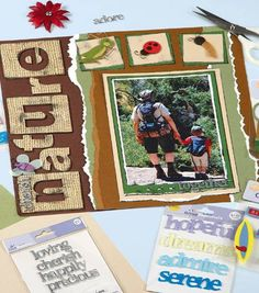Nature Scrapbook Page