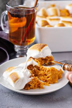 This delicious Sweet Potato Casserole recipe is a family favorite. It's loaded with marshmallows, butter, cinnamon and a secret ingredient to create the best Thanksgiving side dish ever! #sweetpotatocasserole #sweetpotatocasserolerecipe #sweetpotatocasserolewithmarshmallow #thanksgivingsidedish Sweet Potato Casserole Recipe With Marshmallows, Best Sweet Potato Casserole, Potatoe Casserole Recipes, Recipes With Marshmallows, Sweet Potato Recipes, Best Thanksgiving Side Dishes, Thanksgiving Dinner Recipes, Thanksgiving Casserole, Christmas Recipes