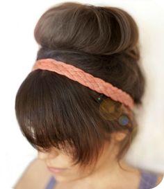 cinta para el pelo de trapillo