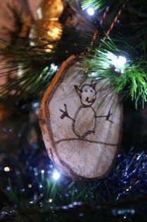 Garden & Vegan Diary - DIY Rondelles de bois (Noël)