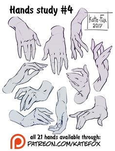 Hands study 4 by Kate-FoX drawing, Poses step by step 2 prev by Kate-FoX on DeviantArt Hand Drawing Reference, Art Reference Poses, Female Reference, Design Reference, Main Manga, Hand Pose, Drawing Studies, Poses References, Anatomy Drawing