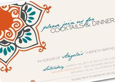 Moroccan party invitations