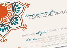 Moroccan party invitations