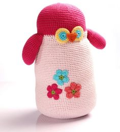 Fair Trade Large Crochet Owl toy by Pebble