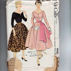 1950s Vintage Sewing Pattern McCalls 9958 by historicallypatterns, $18.00