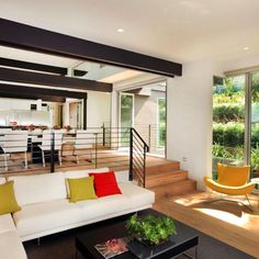 Open Living Room Luxury - 5 Tips for Creating Those Cozy Sunken Living Room Feels Sunken Living Room, Living Room Modern, Living Room Designs, Living Spaces, Living Rooms, Living Room With Stairs, Small Living, Modern Interior Design, Interior Architecture