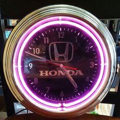 Honda Neon Light Clock